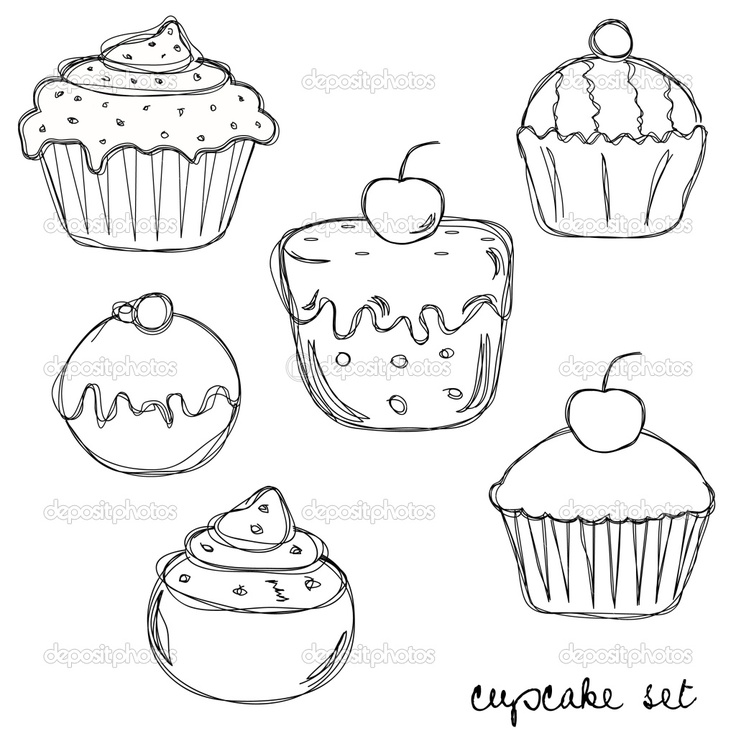 how to draw a muffin easy