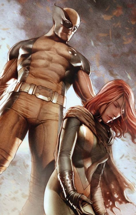 the hero complex- wolverine and Jean grey