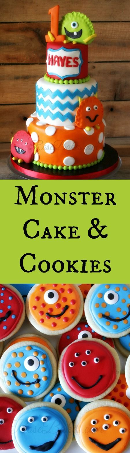 Monster Cake & Cookies by Rose Bakes