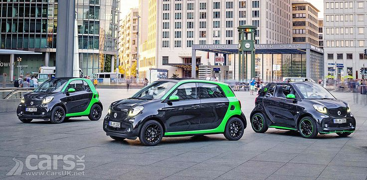 The electronic versions of the Mercedes Smart Car - ForTwo, ForFour and ForTwo Cabriolet - go on sale in the UK with net prices from £16,420.