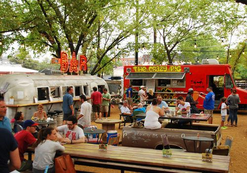 Things to do in Dallas. The Truck Yard is Lower Greenville's New Hot Spot - Opening Report - Eater Dallas. Food trucks and a family friendly atmosphere.