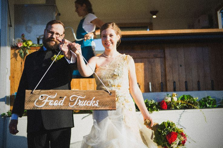 Sarah and Tims Wedding: signage and florals created by Stephanie Belle for Here Comes the Truck: Weddings and Events