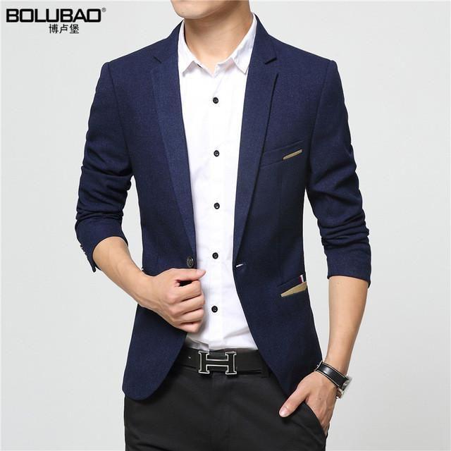 Men Suits 2016 New Arrival Brand-Clothing Autumn Masculine Blazer Men Fashion Slim Fit Suit Men Casual Solid Color Suit Blazer Male Jacket