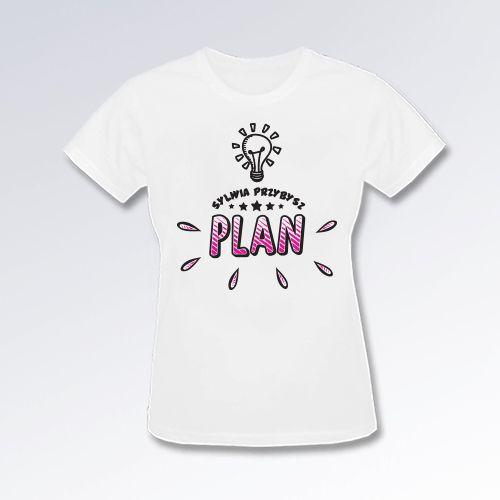(PREORDER) Koszulka damska biała PLAN duże logo