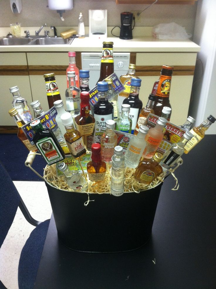 My Version Of The Liquor Basket Things To Make