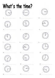 telling the time exercises for beginners pdf