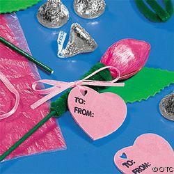 Hershey Kiss Flower Valentines Craft