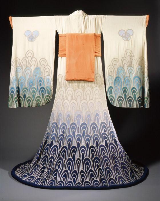 Womans Kimono Costume Ensemble, by Erté, 1923. LACMA, M.87.80.69a-c