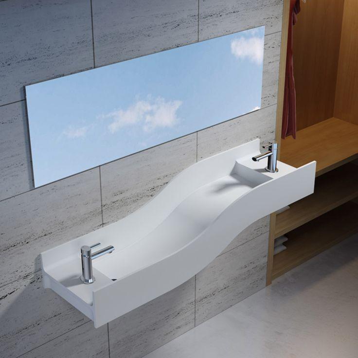 Snygga och unikt designade, mineralgjutna handfat. Det finns flera på www.tilesrus.se