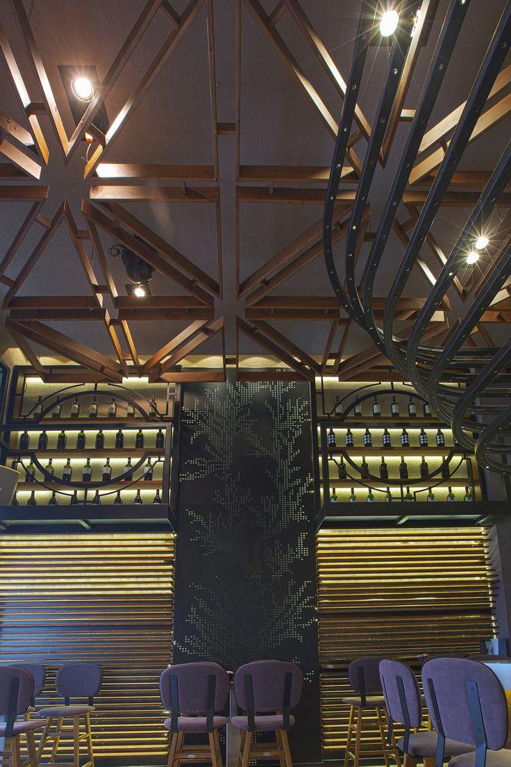 Bo Cafe Florina #interior #design #EpilisisStudio #cafe #bar #industrial #wallart #walllight