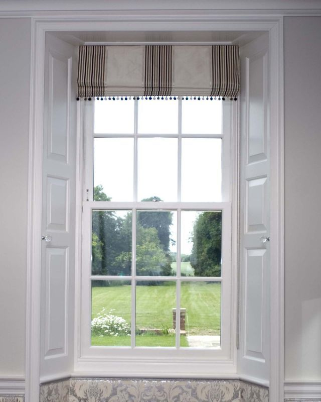 Conservation Box Sash Window. Interesting place for storage and to add panelling design to windows.
