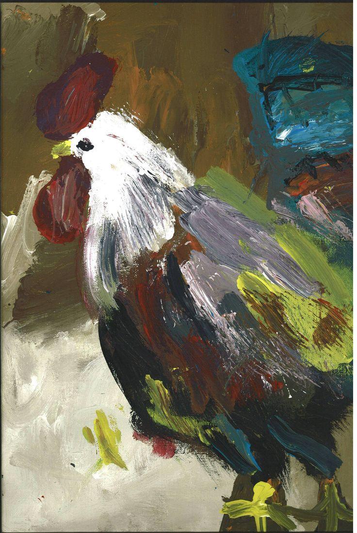 """Dariush Nilipour  Fundacion Soy Capaz  El Gallo Padito (from VI Exposición Internacional de Arte para Personas con Autismo """"EL AUTISMO Y SU HUELLA"""")"""