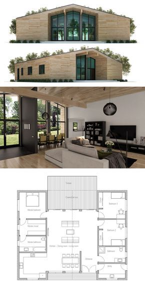 Small House Plan So I would swap the left side so the kitchen is off the back deck. Love the way the master closet is on the way to bath, as they should be. Should all be pocket doors though.