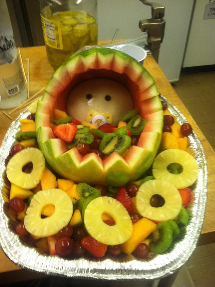 baby fruit basket baby shower pinterest