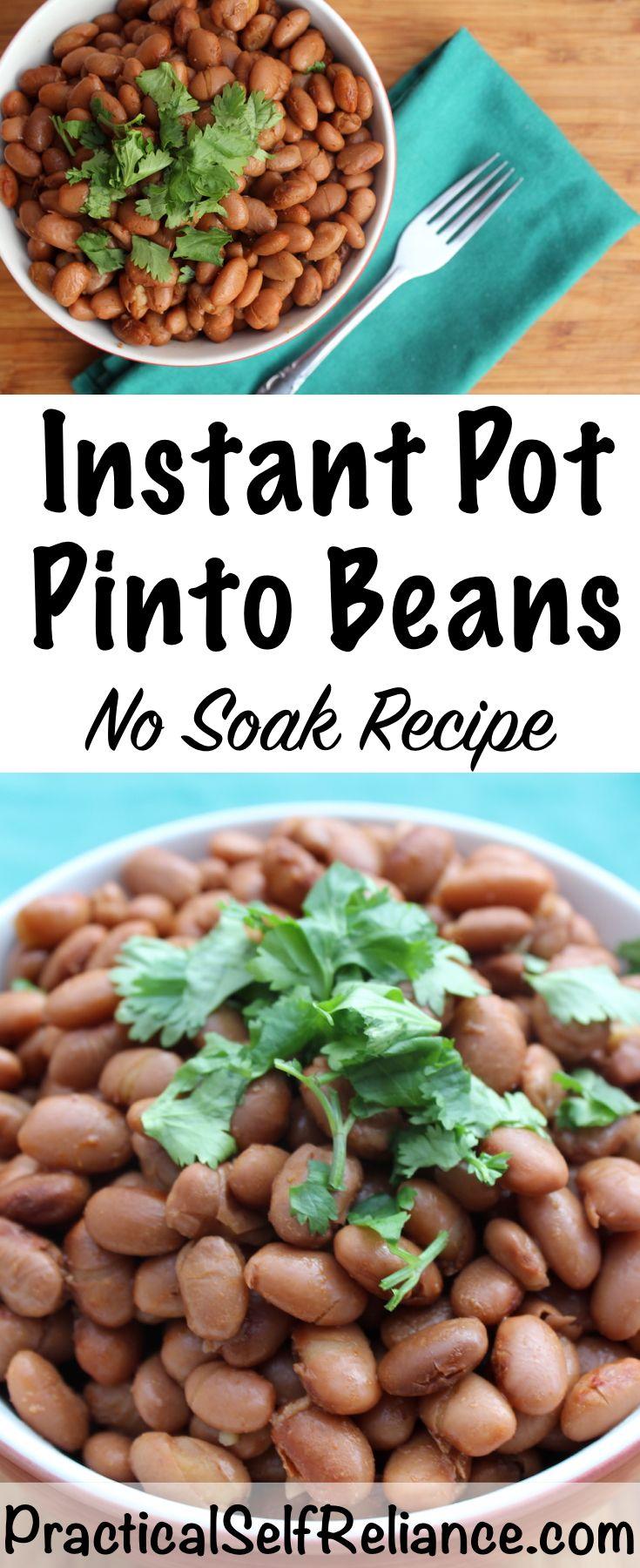 Instant Pot Pinto Beans - No Soak Recipe