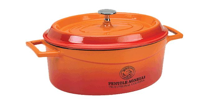 "CASSERUOLA Ovale Ghisa ""SLOW COOK"" - Pentole Agnelli - AGNELLI INDUSTRIES  Casseruola in ghisa smaltata.  Dimensioni: 29x22cm"