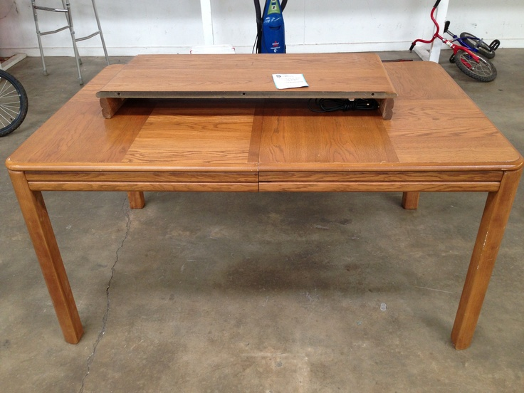 nice wooden table with leaf only 50 salvation army thrift store moffett road