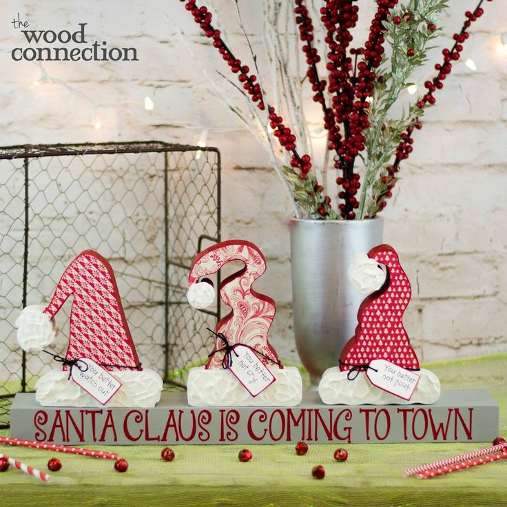The Wood Connection - Santa Hat Trio, $11.85 (http://thewoodconnection.com/santa-hat-trio/)