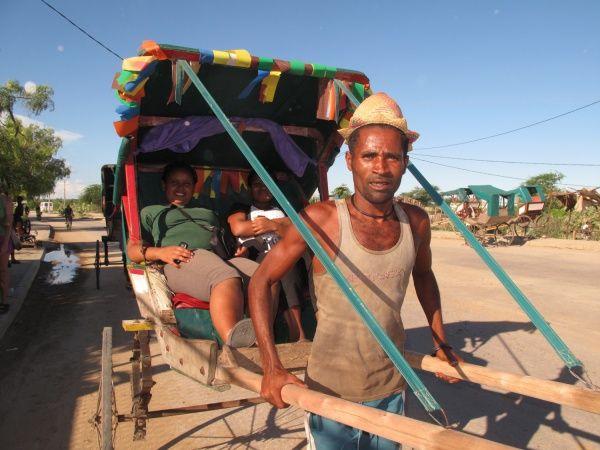Rickshaw driver in Tulear, southwest Madagascar http://madacamp.com/Tulear