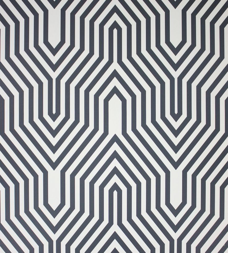 Contemporary Geometrics Interior Trend | Minaret Wallpaper by Osborne & Little | Jane Clayton