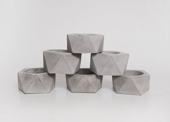 Hey, I found this really awesome Etsy listing at https://www.etsy.com/listing/175283568/geometric-concrete-candle-holder