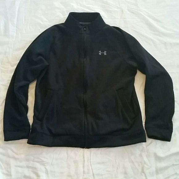 I just added this to my closet on Poshmark: Under armour mens L, full zip poly/fleece coat. Price: $25 Size: L