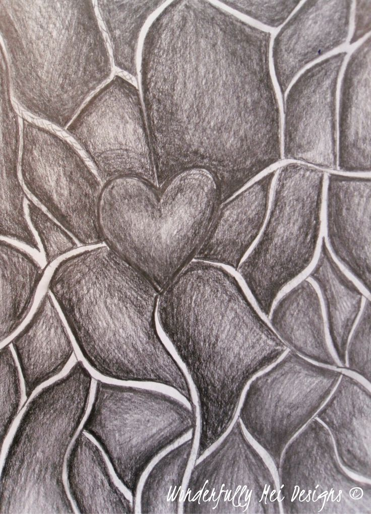 """""""Heart Channels""""  A sketching practice.  """"After all aren't we all connected by Love in the end?"""""""