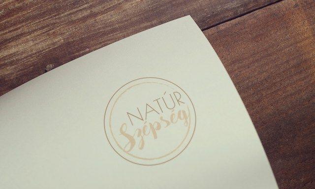 Natúr Szépség stúdió logo terv