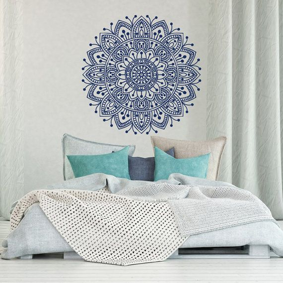 Mandala Wall Decal Bedroom Mandala Vinyl Wall Decal By HomyVinyl