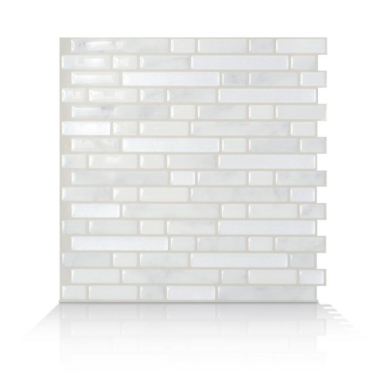 W Peel And Stick Mosaic Decorative Wall Tile In Bellagio Marmo 6 Pack White