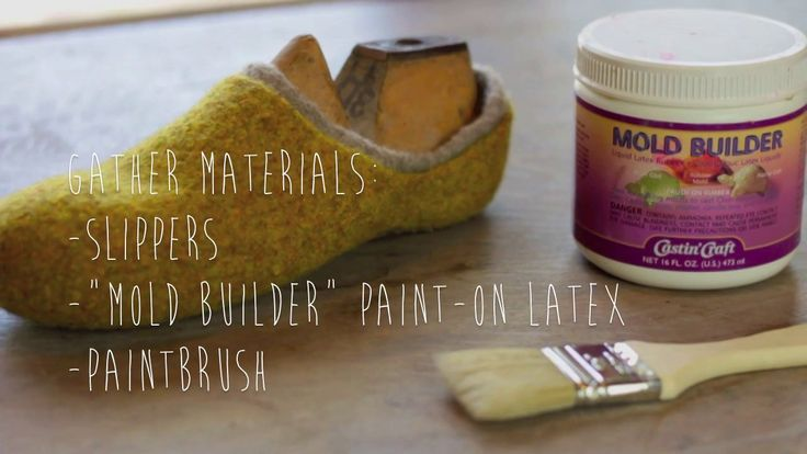 How to add a latex sole to knitted/felted slippers