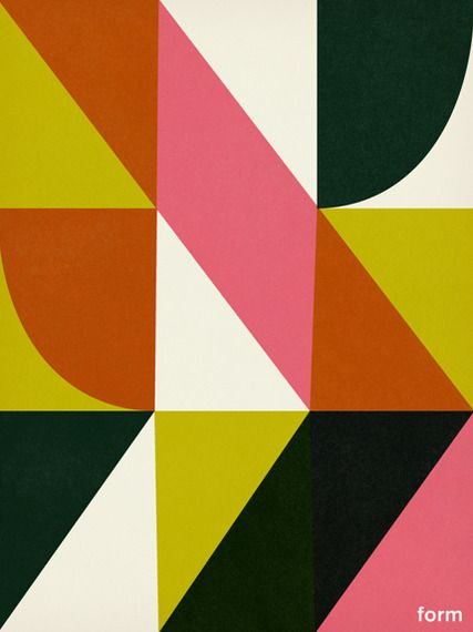 color over print cubism poster