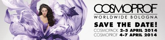 When and where: #COSMOPROF BOLOGNA 2014 BOLOGNA – Fair District Opening Hours:  9.30 a.m. to 6.30 p.m.  every day. Get your tickets early! http://www.cosmoprof.com/visitatori/biglietti/