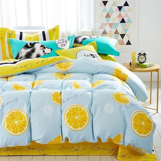 juegos de cama de estilo frutal