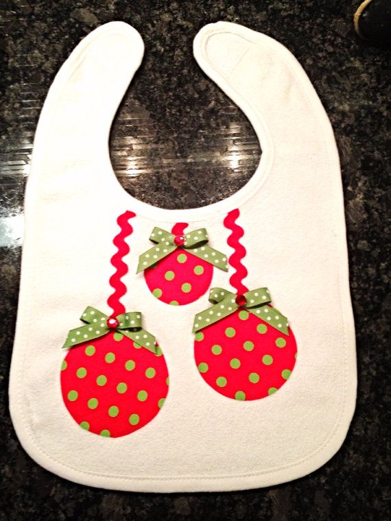 Christmas bib on Etsy, $8.00