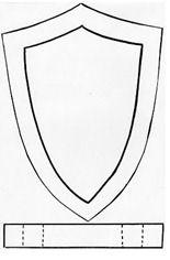 plantilla escudo medieval