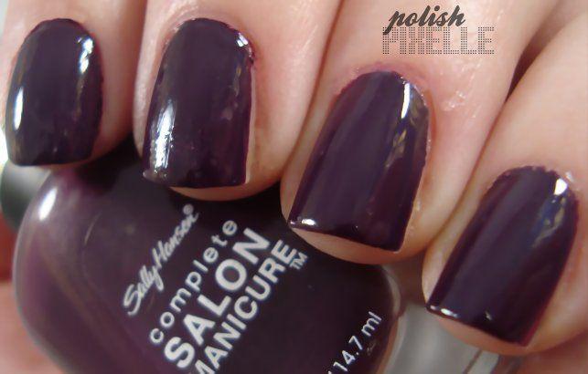 Sally Hansen (Complete Salon Manicure) Plum Luck / Polish Pixelle // #nailpolish #nails