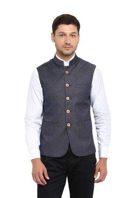 854ad0568277 Red Tape Navy Sleeveless Nehru Jacket - | 1239.00 | Men's Fashion ...