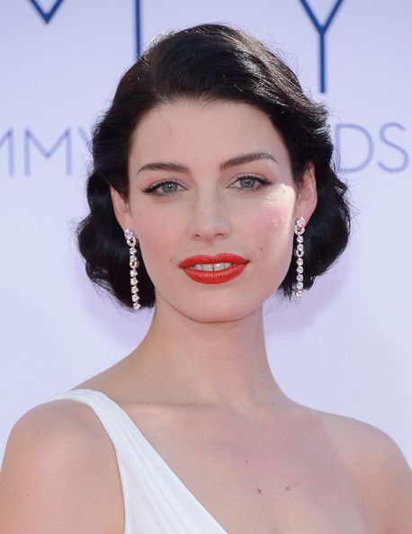 Jessica Pare with her retro glamour and dark locks