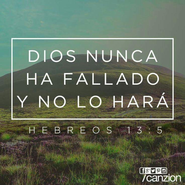 """«...Pues Dios ha dicho: """"Nunca te fallaré. Jamás te abandonaré""""». —Hebreos 13:5"""