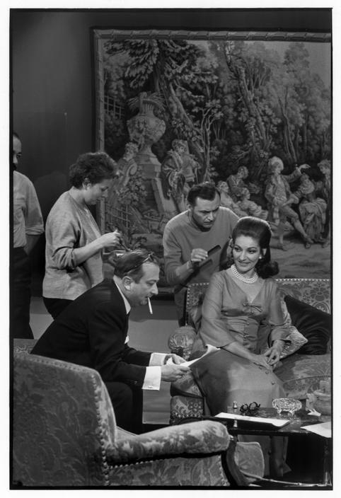 """Henri Cartier-Bresson: Paris. TV programme """"L'Invité du Dimanche"""". June 20th, 1969. Maria CALLAS."""