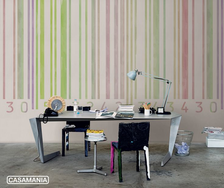 #LondonArtwallpapers featuring #Casamania design. #Rememberme chairs, N7 table and Lateralus wallpaper. #design #furniture #wallpaper #homedecor