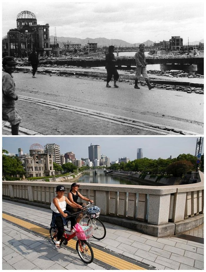 best hiroshima now ideas wow facts facts about  after the a bomb hiroshima and nagasaki then and now in pictures