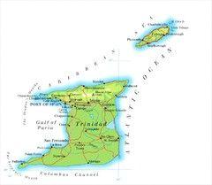 Trinadad and Tobago Map