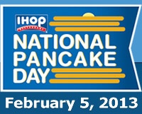 Update on CMNH!! Go to IHOP on Feb 5th and receive a free short stack, in exchange for a donation to the Children's Miracle Network Hospitals. It's an INCREDIBLY worthy cause!!  @Miss America Organization @Children's Miracle Network Hospitals  IHOP National Pancake Day - February 5, 2013 - Pancake Day Details