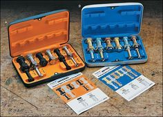 Imperial and Metric Thread I.D.® Sets for Large Fasteners - These nut and bolt identifier sets allow you to check the size of both external and internal threads