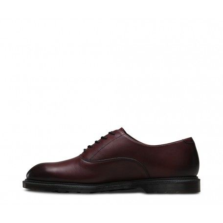 Dr Martens Mens Fawkes Cherry Red Temperley Leather Formal Shoes 20717600