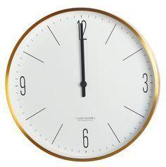 Wanduhr Clock Couture / Ø 30 Cm, Goldfarben Von House Doctor Finden Sie Bei  Made