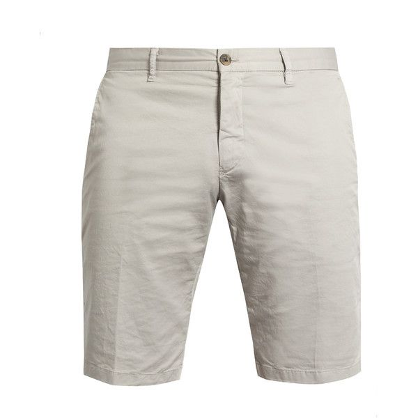 J.W. Brine Free Donnie cotton-blend chino shorts ($135) ❤ liked on Polyvore featuring men's fashion, men's clothing, men's shorts, mens slim fit shorts, mens chino shorts and mens slim fit chino shorts