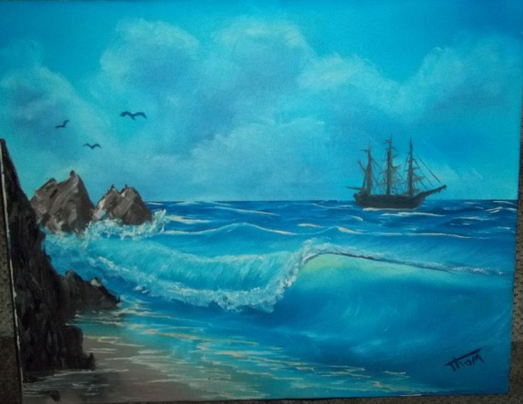 Image Result For Bob Ross Ocean Paintings Acrylic Painting